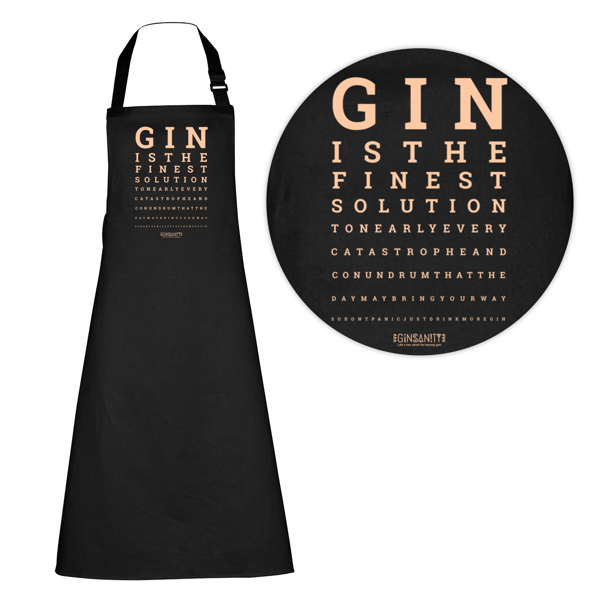The dress eye test - The Gin Collective Kitchen Aprons The Gin Eye Test